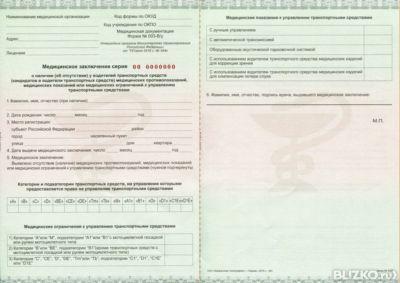 Медицинская справка для замены водительского удостоверения отрадное Справка 082 у Беляево
