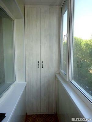 Шкаф на балкон белый из дсп на заказ в омске. цена товара от.